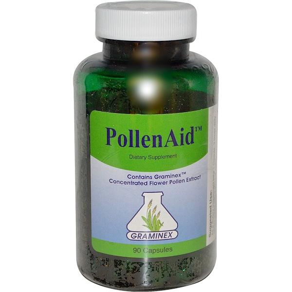Graminex, PollenAid, 90粒