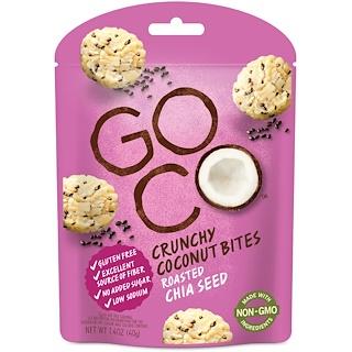 GoCo, لُقيمات جوز الهند مقرمشة، بذور صينية محمصة، 1.4 أوقية (40 غ)