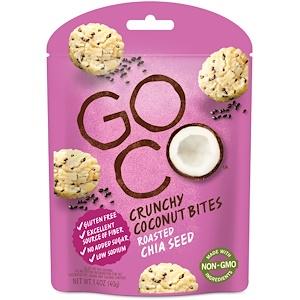 ГоуКо, Crunchy Coconut Bites, Roasted Chia Seed, 1.4 oz (40 g) отзывы покупателей