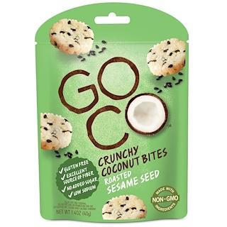 GoCo, قضمات جوز الهند المقرمشة، ببذور السمسم المحمص، 1.4 أوقية (40 جم)