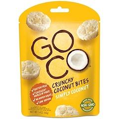 GoCo, Aperitivos de coco crujientes, Simplemente coco, 1,4 oz (40 g)