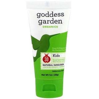 Goddess Garden, オーガニック、キッズ、ナチュラルサンスクリーン、SPF 30,1オンス(28 g)