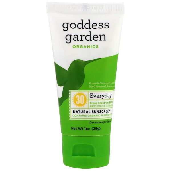 Goddess Garden, Organics, Средство для ежедневной защиты от солнца, SPF 30, 1 унция (28 г