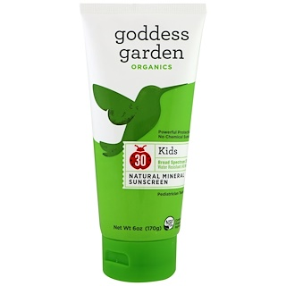 Goddess Garden, Organics, Kids, Natural Sunscreen, SPF 30, 6 oz (170 g)