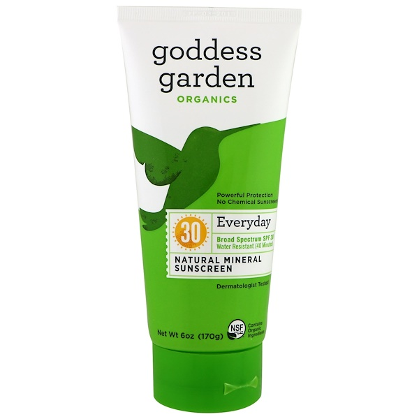 Goddess Garden, Organics, Everyday Natural Mineral Sunscreen, SPF 30, 6 oz (170 g) (Discontinued Item)