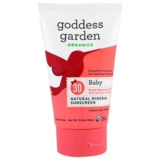 Goddess Garden, Organics, Baby Natural Mineral Sunscreen, SPF 30, 3.4 oz (96 g)