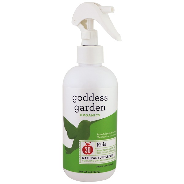 Goddess Garden, Organics, Kids Natural Sunscreen, SPF 30, 8 oz (236 ml)