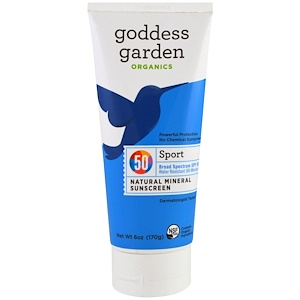 Годдэс Гарден, Organic,Sport, Natural Mineral Sunscreen, SPF 50, 6 oz (170 g) отзывы