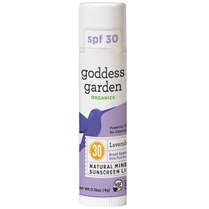 Годдэс Гарден, Organics, Natural Mineral Sunscreen Lip Balm, SPF 30, Lavender Mint, 0.15 oz (4 g) отзывы