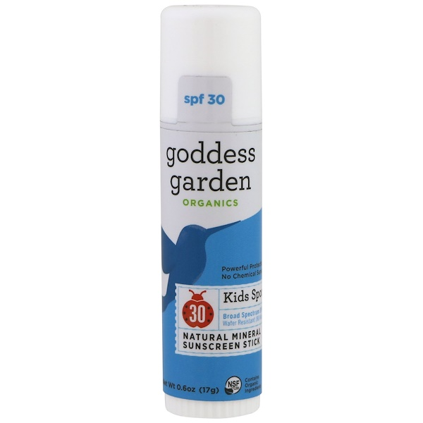 Goddess Garden, Organics, Kids Sport, Natural Mineral Sunscreen, Stick, SPF 30, 0.6 oz (17 g) (Discontinued Item)