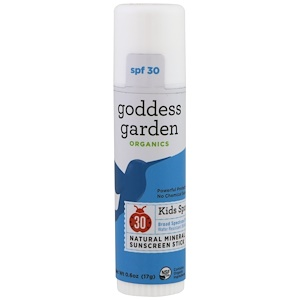Годдэс Гарден, Organics, Kids Sport, Natural Mineral Sunscreen, Stick, SPF 30, 0.6 oz (17 g) отзывы