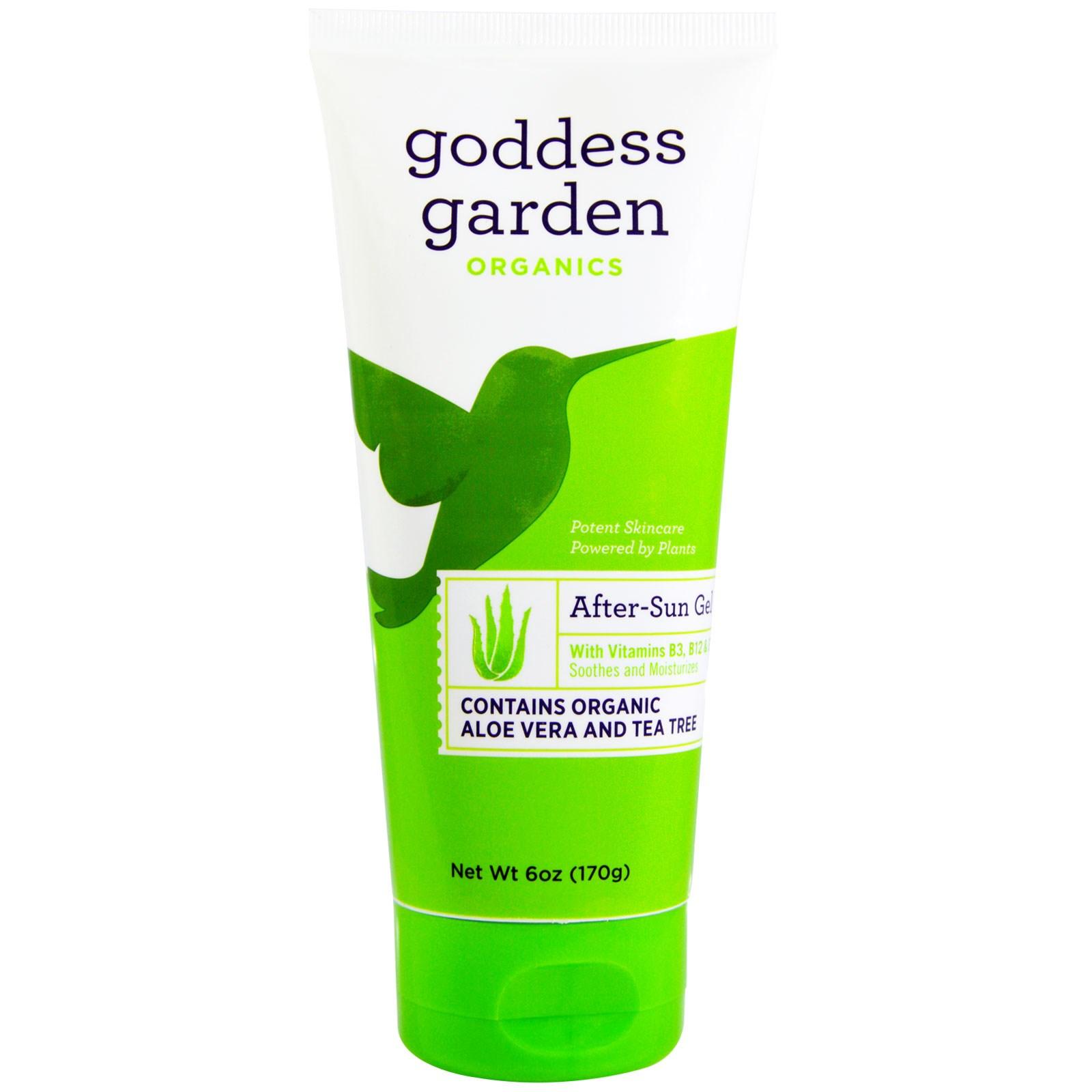 Goddess Garden, Organico, Gel Hidratante, Aloe Vera y árbol de té, 6 ...