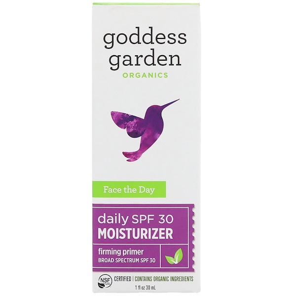 Goddess Garden, Organics, Face the Day, Daily Moisturizer, Firming Primer, SPF 30, 1 fl oz (30 ml) (Discontinued Item)