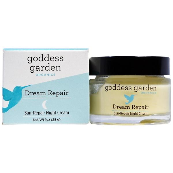 Goddess Garden, Organics, Dream Repair, Sun Repair Night Cream, 1 oz (28 g) (Discontinued Item)