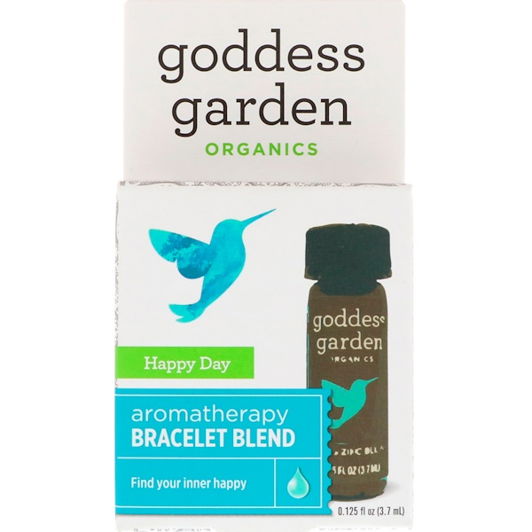 Goddess Garden, Organics, Happy Day, Aromatherapy Bracelet Blend, 0.125 fl oz (3.7 ml)