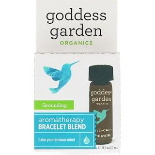 Goddess Garden, Orgánicos, enraizamiento, mezcla para brazalete de aromaterapia, 0.125 fl. Oz (3.7 ml)