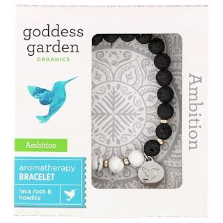 Goddess Garden, Органический продукт, Амбиция, Браслет для ароматерапии, 1 браслет