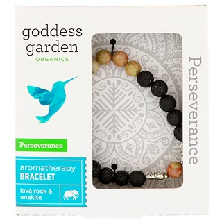 Goddess Garden, Organics, Perseverance, Aromatherapy Bracelet, 1 Bracelet
