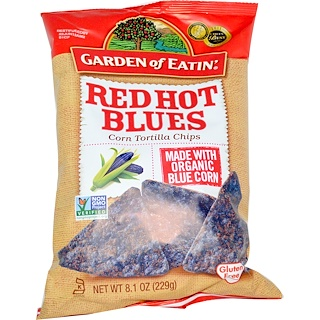 Garden of Eatin', Corn Tortilla Chips, Red Hot Blues, 8.1 oz (229 g)
