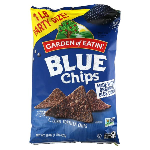 Corn Tortilla Chips, Blue Chips, 16 oz (453 g)