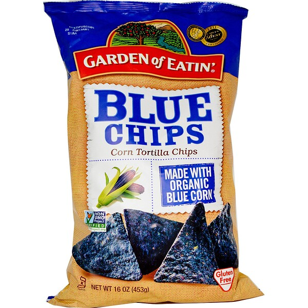 Garden of Eatin', Chips de tortilla de maíz, chips azules, 16 oz (453 g)