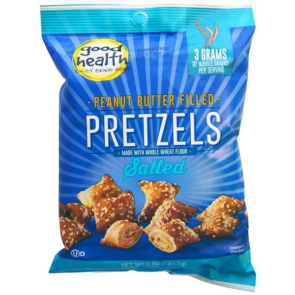 Good Health Natural Foods, Peanut Butter Filled Pretzels, Salted, 5 oz (141.7 g) (Discontinued Item)