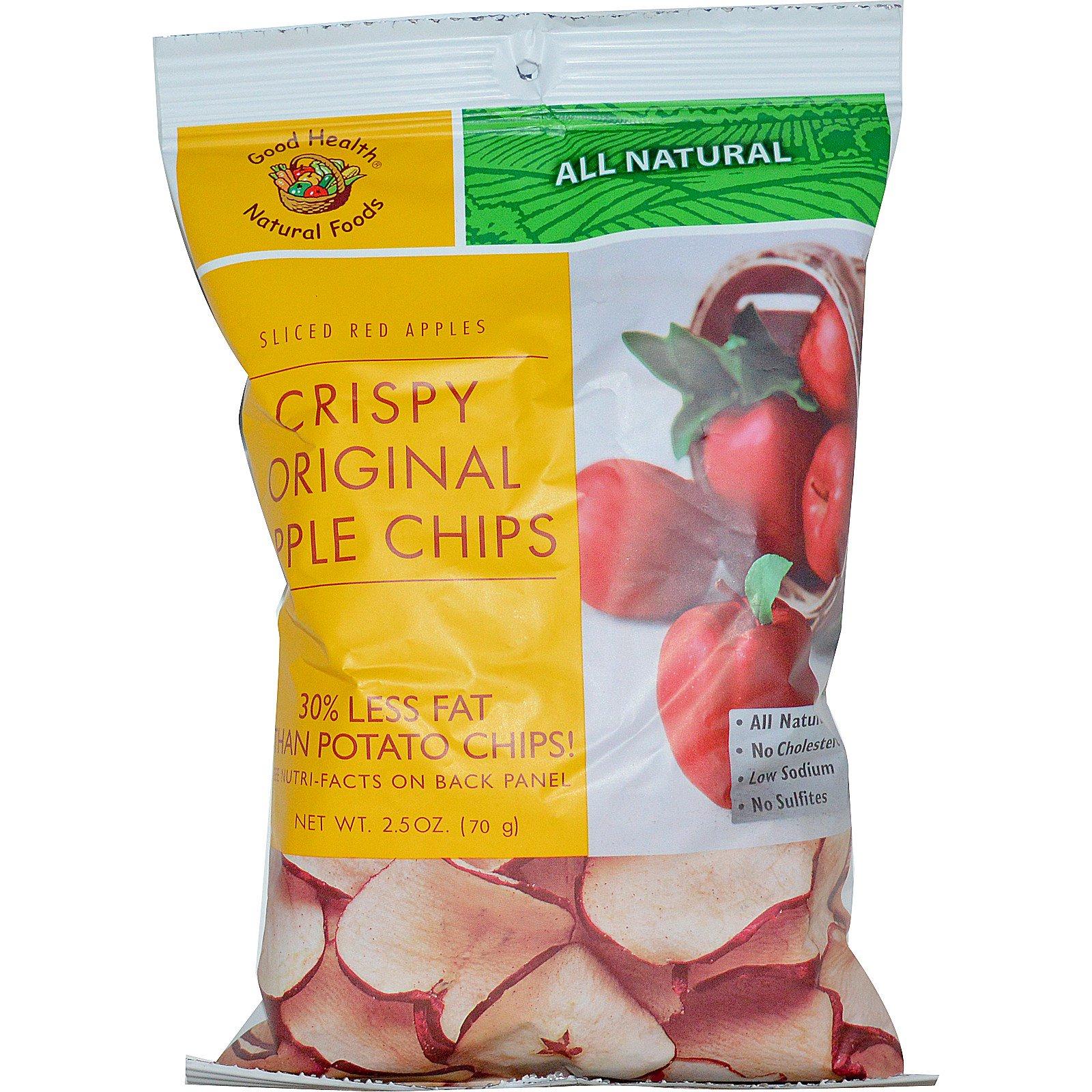 Good Health Natural Foods, Яблочные чипсы, оригинальные, 2,5 унц. (70,1 г)