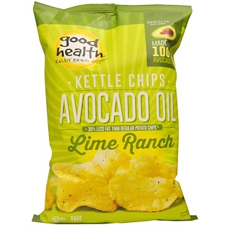 Good Health Natural Foods, Kettle Chips, Avocado Oil, Lime Ranch, 5 oz (141.7 g)