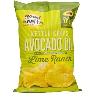 Good Health Natural Foods, رقائق، زيت الأفوكادو، الجير مزرعة، 5 أوقية (141.7 غرام)