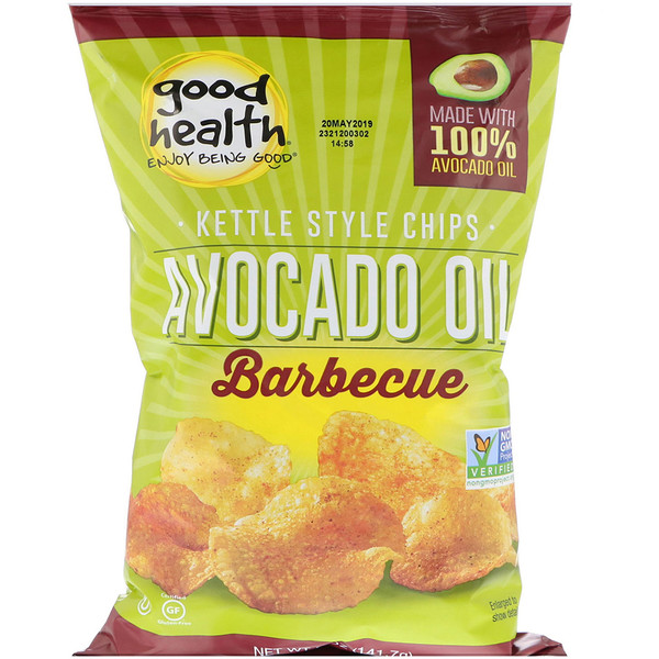 Good Health Natural Foods, Kettle Style Chips, Avocado Oil, Barbecue, 5 oz (141.7 g) (Discontinued Item)