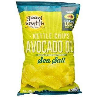 Good Health Natural Foods, Kettle Chips, Avocado Oil, Sea Salt, 5 oz (141.7 g)