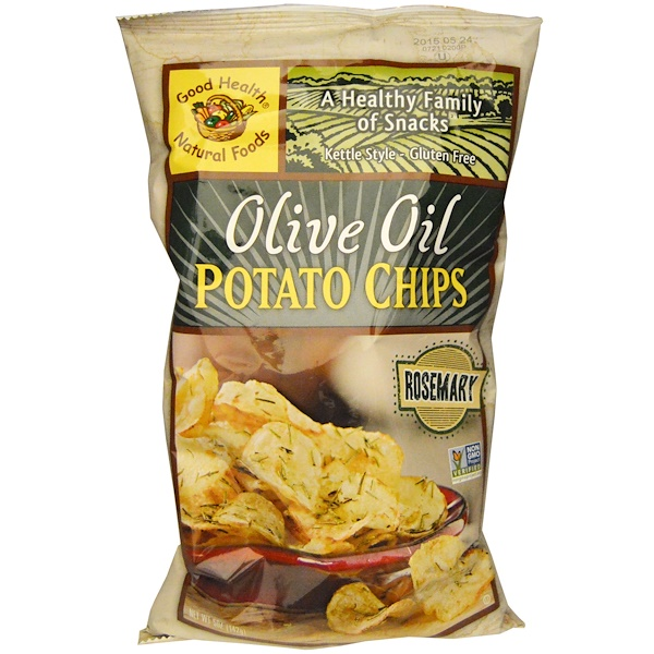 Good Health Natural Foods, Olive Oil Potato Chips, Rosemary, 5 oz (142 g)