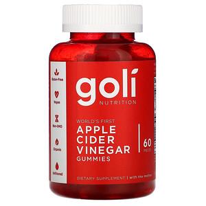 Goli Nutrition, Apple Cider Vinegar Gummies, 60 Pieces
