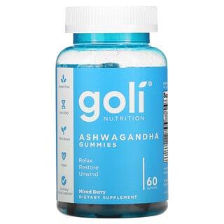 Goli Nutrition, Ashwagandha Gummies, Mixed Berry, 60 Gummies