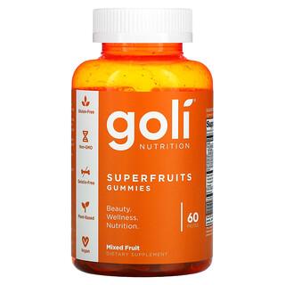 Goli Nutrition, Superfruit Gummies, Mixed Fruit, 60 Pieces