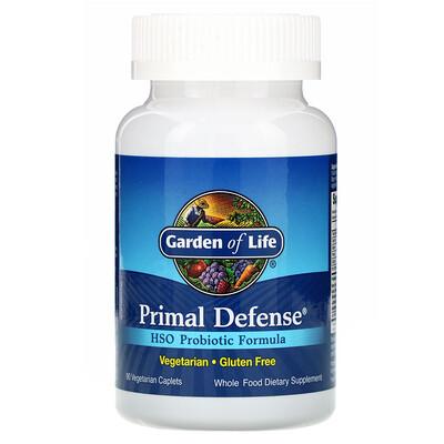 Фото - Primal Defense, пробиотическая формула с HSO, 90 вегетарианских капсуловидных таблеток pre workout explosion предтренировочный комплекс 120капсуловидных таблеток