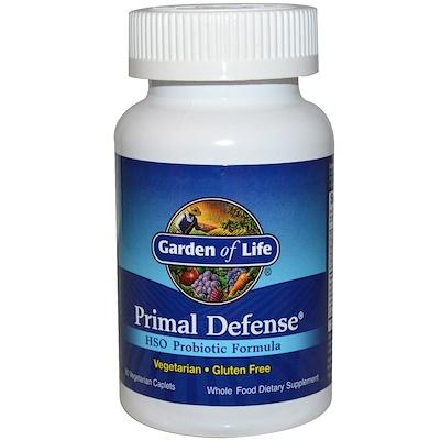 Купить Primal Defense, Формула, содержащая пробиотик HSO, 90 вегетарианских капсул