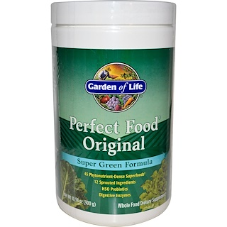 Garden of Life, Perfect Food Original, Super Green Formula, 10.58 oz (300 g)
