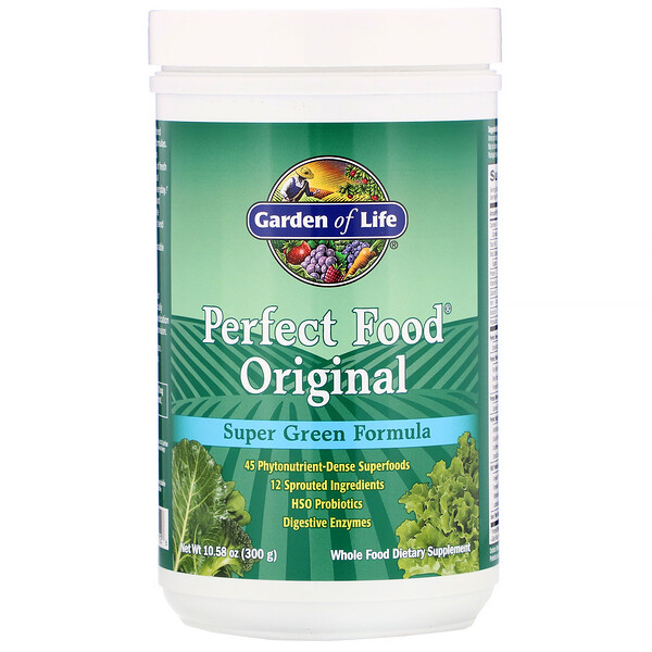 Perfect Food Original, Super Green Formula، 10.58 أوقية (300 غ)