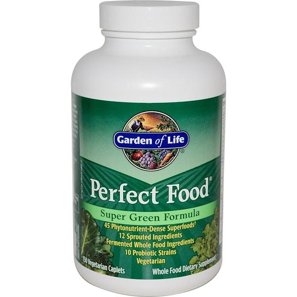 Garden of Life, Perfect Food, Super Green Formula, 150 Veggie Caplets (Discontinued Item)