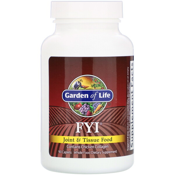 Garden of Life, FYI, Joint & Tissue Food, 90 Caplets