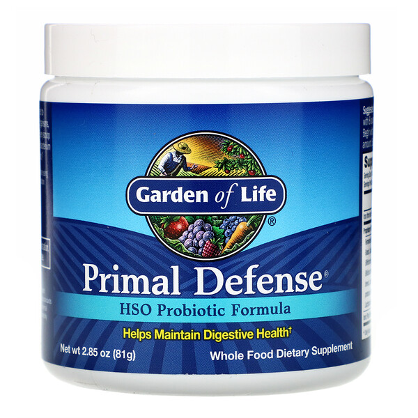 Garden of Life, Primal Defense, Powder, HSO Probiotic Formula, 2.85 oz (81 g)