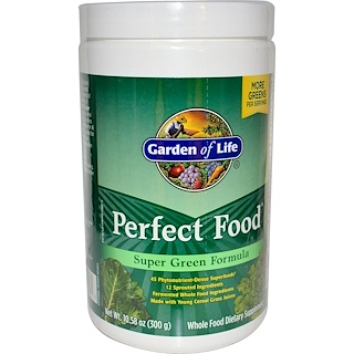Garden of Life, Perfect Food Super Green Formula, 10.58 oz (300 g)