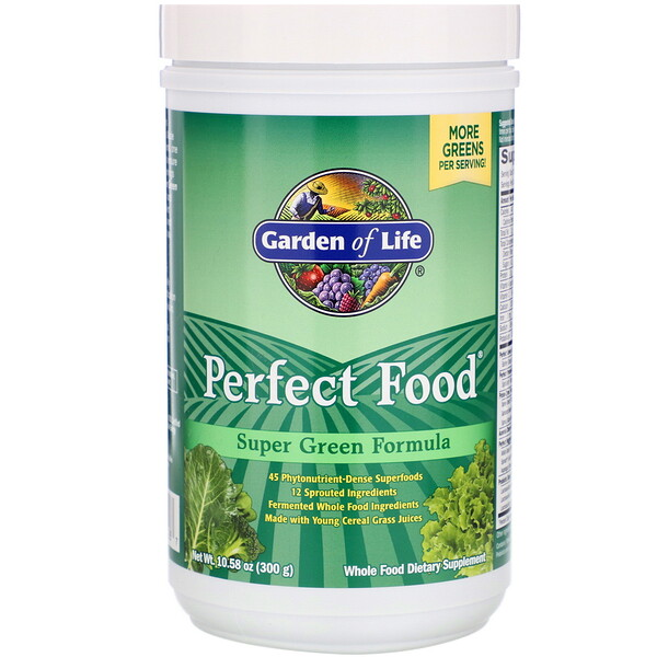Perfect Food Super Green Formula, 10.58 أوقية (300 جرام)