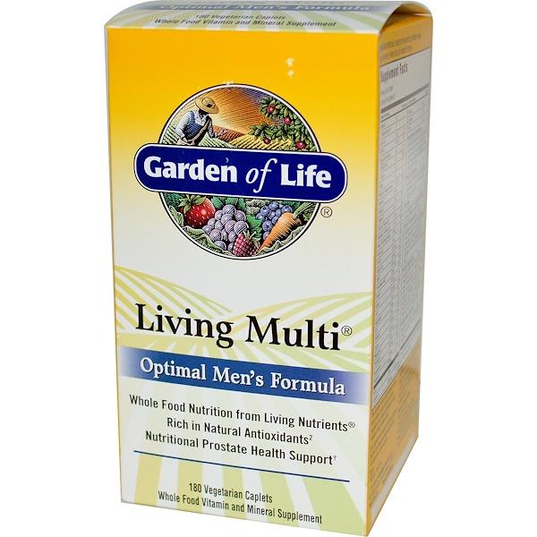 Garden of Life, Living Multi, Optimal Men's Formula, 180  Veggie Caplets (Discontinued Item)