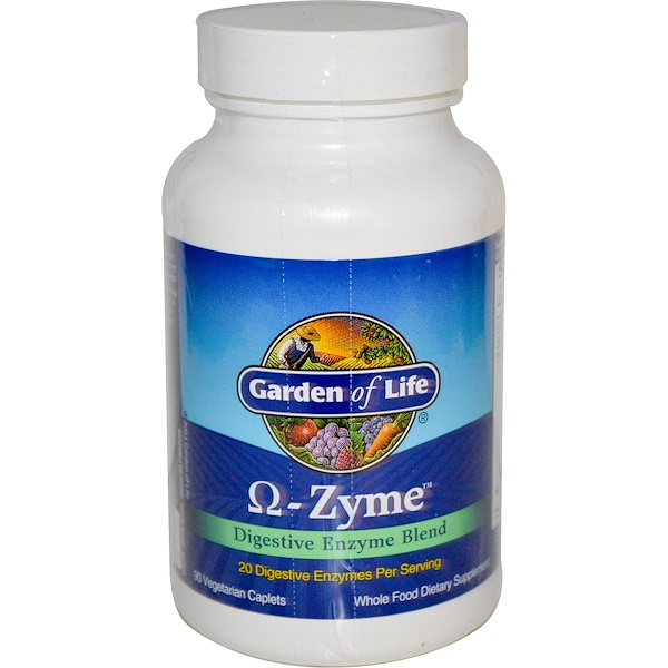 Garden of Life, O-Zyme, Digestive Enzyme Blend, 90 Vegetarian Caplets (Discontinued Item)