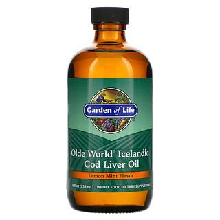Garden of Life, Olde World Icelandic Cod Liver Oil, Lemon Mint, 8 fl oz (236 ml)