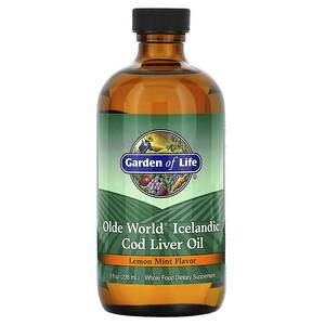 Гарден оф Лайф, Olde World Icelandic Cod Liver Oil, Lemon Mint, 8 fl oz (236 ml) отзывы покупателей