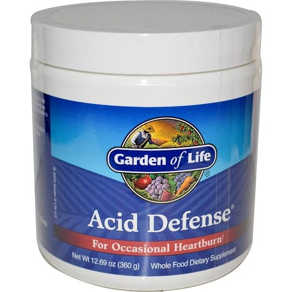 Garden of Life, Acid Defense, For Occasional Heartburn, 12.69 oz (360 g) (Discontinued Item)