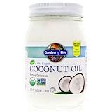 Отзывы о Garden of Life, Необработанное кокосовое масло холодного отжима, 16 унций (473 мл)